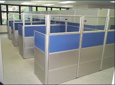 Vách ngăn văn phòng VNHP03 thiết kế 3 tầng độc đáo