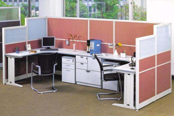 Kết hợp độc đáo cho văn phòng với vách ngăn nhôm nỉ VNTC-NN