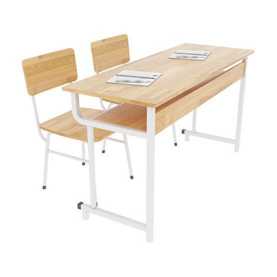 Bàn ghế học sinh gỗ cao su BHS-19-05CS