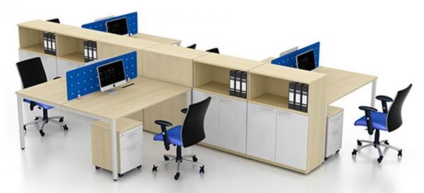 Module bàn làm việc liền tủ CBT-06 hiện đại