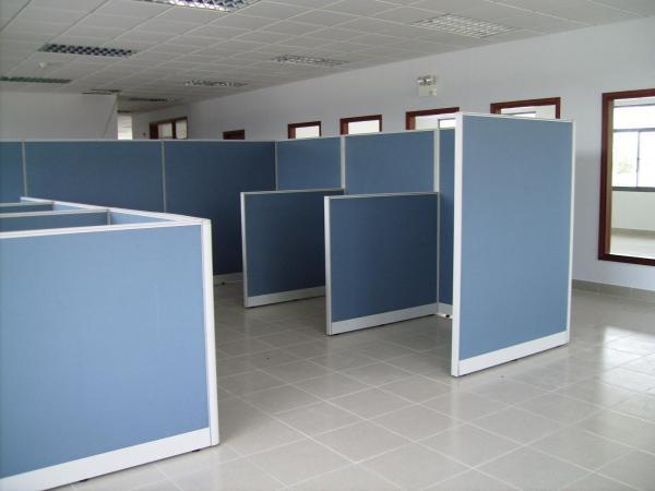 Vách ngăn văn phòng làm việc nhôm nỉ VNNN-03