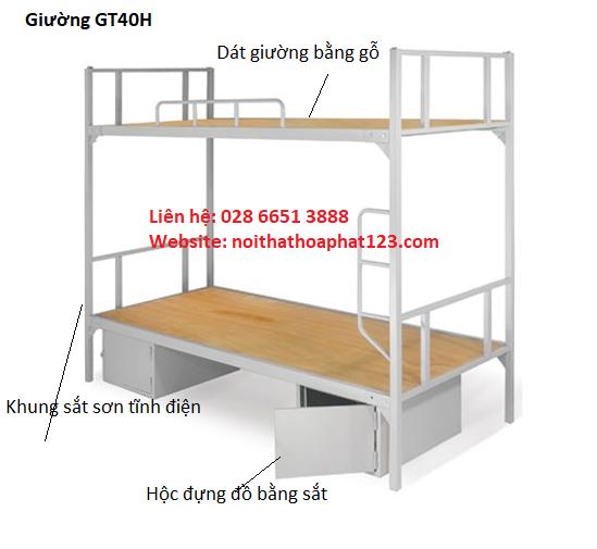 Kết quả hình ảnh cho Giường tầng nội trú GT40H