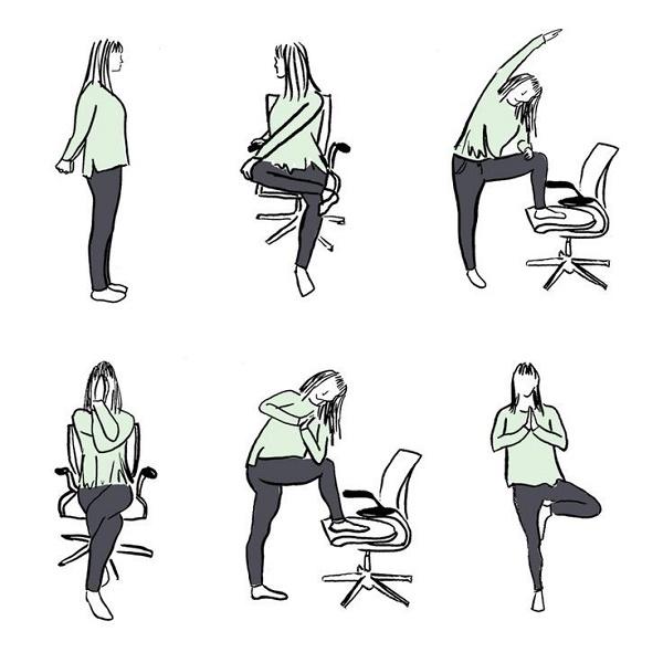 yoga bàn làm việc